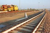 Spoorweg track bouwplaats — Stockfoto