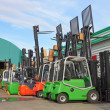 Electric forklift stackers - Stock Photo