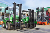 Electric forklift stackers — Stock Photo