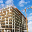 Construction of residential district — Stock Photo