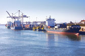 Cargo sea port — Stockfoto