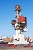 Подъемный кран порта — Стоковое фото