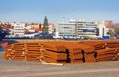 Rusty construction rods — Stock Photo