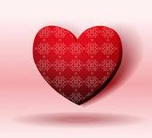 Red Heart With Shadow. Valentine's day — Διανυσματικό Αρχείο