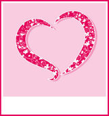 Pink Valentine's day background with hearts — Cтоковый вектор