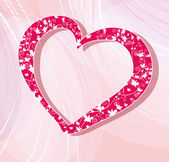 Pink Valentine's day background with hearts — Stock Vector