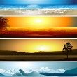 A series of illustrations of 4 geographical locations — Stock Vector #19190919