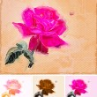 Royalty-Free Stock Vector Image: Painting a Rose