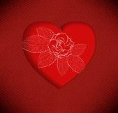 Red Valentine's day background with hearts — Διανυσματικό Αρχείο