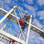 Large industrial crane — Stock Photo