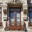 Facade of old style building - Stockfoto