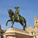 Monument of the king Pedro IV, Porto, Portugal — Stock Photo