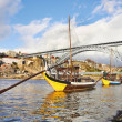 Traditional Boats on douro river — Stock Photo #21011585