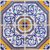 Traditional Portuguese azulejos — Foto Stock