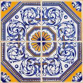 Tradycyjnych portugalskich azulejo — Zdjęcie stockowe