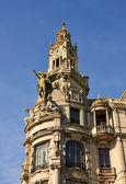 Building at the main square of Porto, Portugal — Stock Photo