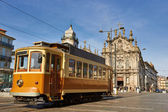 Street tram in Porto, Portugal — Stock Photo