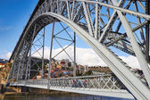 Dom Luis I Bridge in Porto — Stock Photo