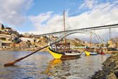 Traditional Boats on douro river — Stock Photo