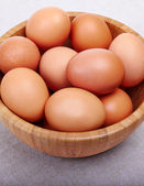 Eggs in bowl — Stock Photo