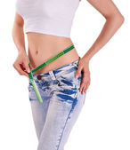 Slim hips - losing weight — Stock Photo