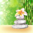 Royalty-Free Stock Vector Image: Spa concept zen stones and frangipani flowers