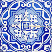 Old Traditional Portuguese azulejos — Stock Photo