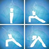 Yoga, pilates — Stock Vector