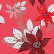 Red seamless floral pattern — Stockvektor #24008181