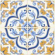 Detail of some typical portuguese tiles - Stock Photo