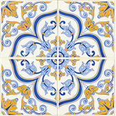 Detail of some typical portuguese tiles — Foto de Stock