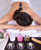 Woman getting spa massage — Stock Photo