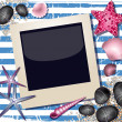 Background with photo frame — Stock Vector