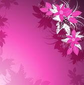 Lila bakgrund med blommor — Stockvektor