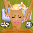 Stock Vector: facial treatment