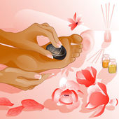 Foot massage — Stock Vector