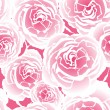 Seamless pattern with pink roses  — Vettoriali Stock