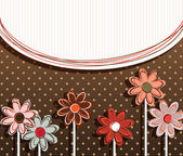 Paper flowers on vintage background — Stock Vector