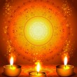 background for diwali festival with lamps 	 — Imagen vectorial