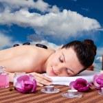 Spa. Stone Massage. — Stock Photo
