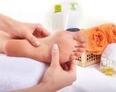 Massage of human foot — ストック写真