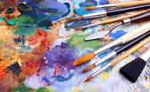 Artists brushes — Stock Photo