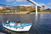 Boat on the Douro river — Stock Photo