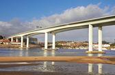 High and long concrete bridge  — Stock Photo