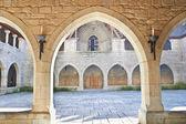 Vista interior del palacio de los duques de braganza, guimaraes, portug — Foto de Stock