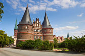 Holstentor in Lubeck, Germany  — Stock Photo