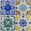 Ceramic traditional tiles from Portugal — Stock Photo