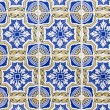 Wall of the building in Portugal. Traditional Portuguese ceramic — Stock Photo #41638983