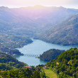 Sunset in Geres national park. Portugal — Stock Photo