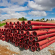 PVC pipes on construction site — Stock Photo #42028621